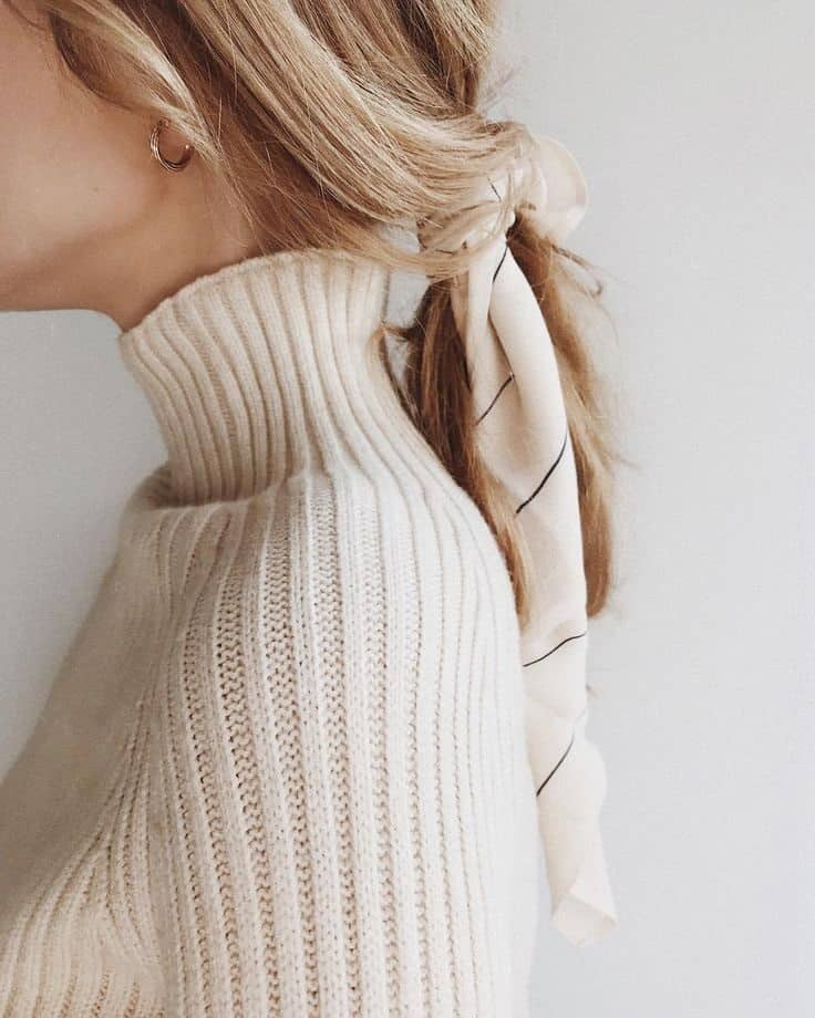 pull blanc en hiver