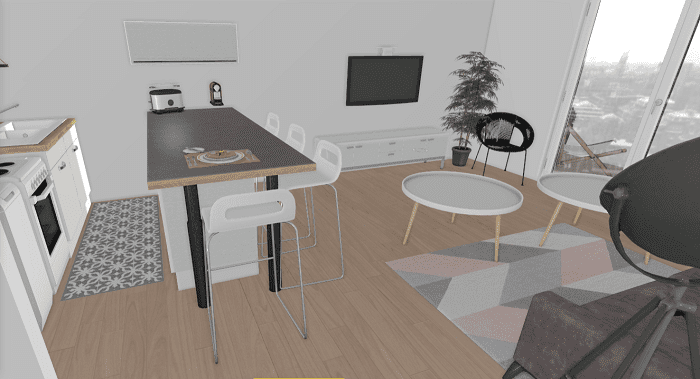décoration intérieure en 3D
