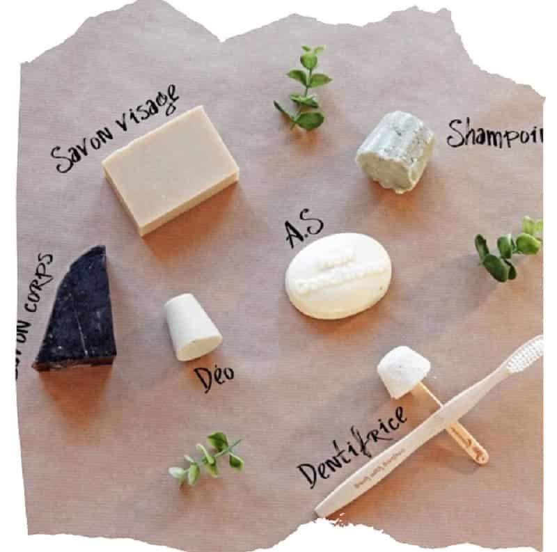 produits cosmétiques solides