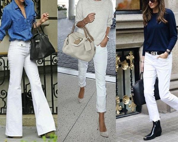 porter le jean blanc